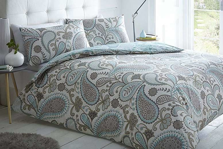 Bedding Sets & Duvet Covers Galaxy Paisley Duvet Cover Bedding Set With Pillow Cases Single Double King Bed Linens & Sets
