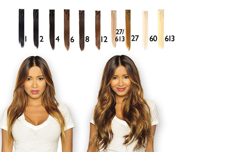 7pc 22 Clip In Hair Extensions Set 10 Colours Shop Wowcher