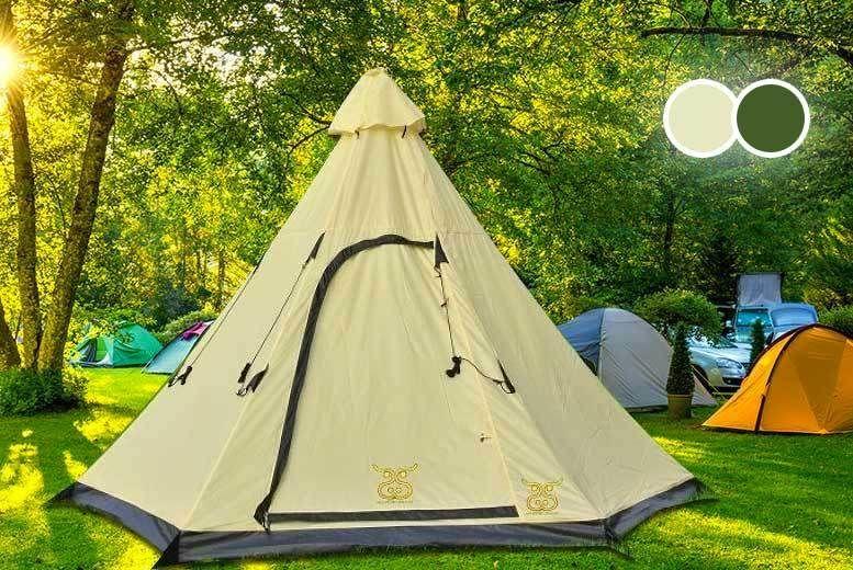 Teepee Tent Sleeps 6 People!   Garden