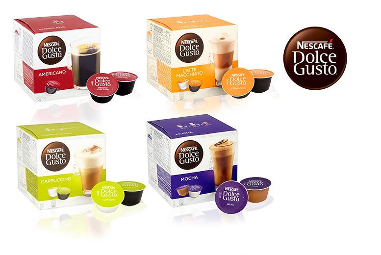 48 nescafe dolce gusto pods shop wowcher. Black Bedroom Furniture Sets. Home Design Ideas