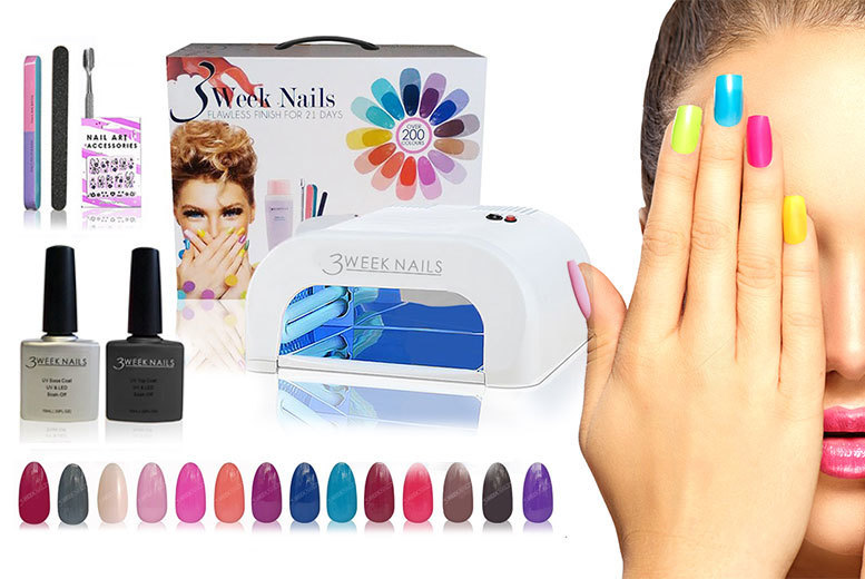 12 Or 15pc Gel Nail Polish Accessories Kit With UV Lamp