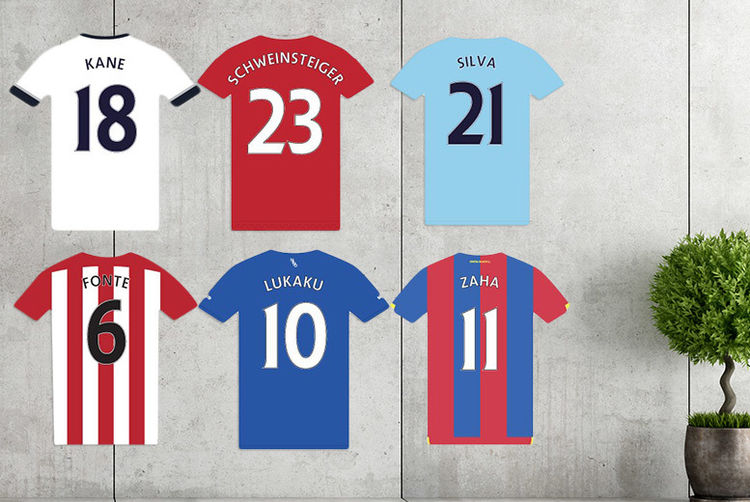 Personalised Football Shirt Wall Sticker - 34 Teams! | Shop | Wowcher