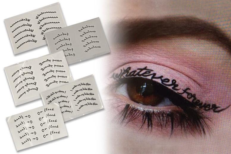 Eyeliner Tattoo Words - 5 Styles! | Shop | Wowcher