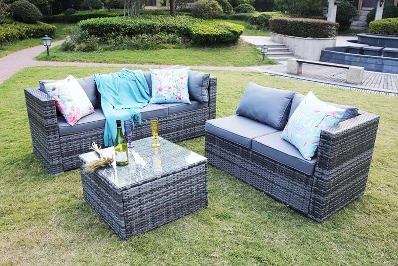 Rattan Corner Sofa Set Shop Livingsocial