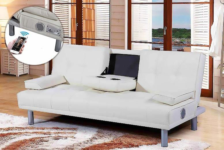 Phenomenal Manhattan Bluetooth Faux Leather Sofa Bed 3 Colours Customarchery Wood Chair Design Ideas Customarcherynet
