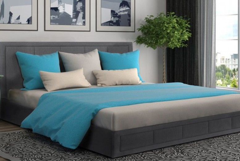 From £119 (from Dining Tables) for an ottoman storage bed or from £199 for a bed and mattress - save up to 82% & Luxury Grey Fabric Ottoman Storage Bed with Mattress Options! | Shop ...