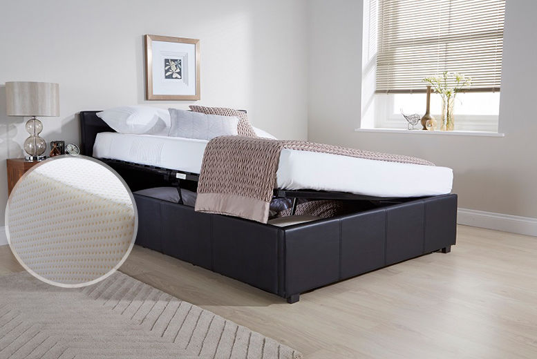 Amazing Side Lift Ottoman Bed Travel Wowcher Inzonedesignstudio Interior Chair Design Inzonedesignstudiocom
