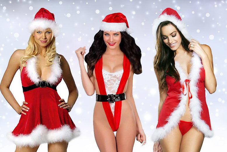 677e76434 £9 instead of £35 (Boni Caro) for a Mrs Claus sexy Christmas lingerie set -  save up to 74%