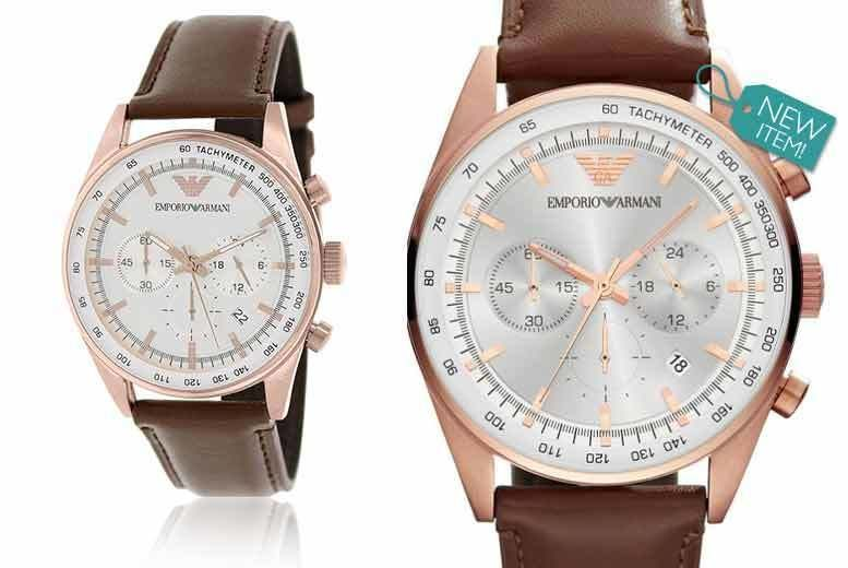 05fb6c8cb £129 instead of £349 for a men's classic Emporio Armani AR5995 chronograph  watch from GK1706 LTD - save up to 63%