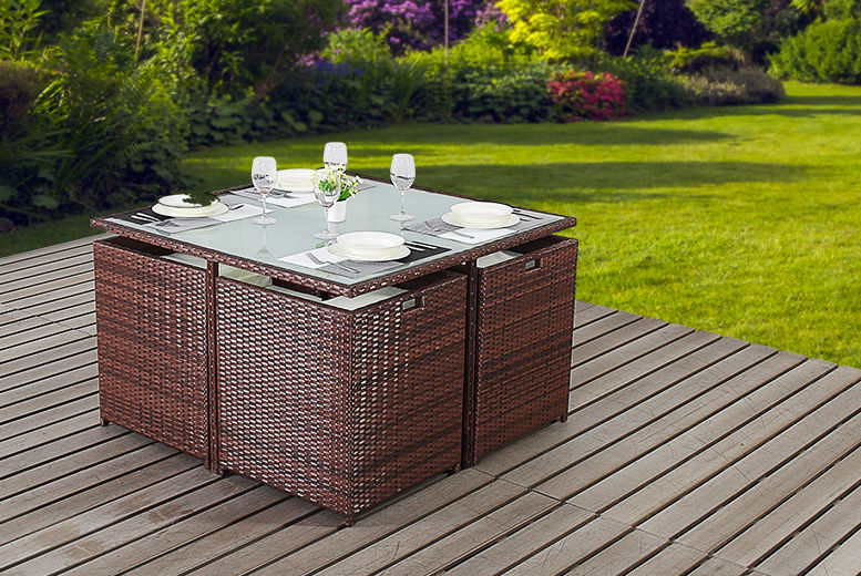 Remarkable Rattan Cube Furniture Set Shop Wowcher Download Free Architecture Designs Jebrpmadebymaigaardcom