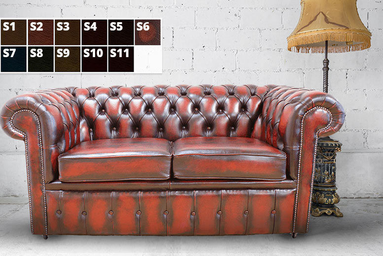 Terrific 2 Or 3 Seater Antique Style Leather Chesterfield Sofa 5 Pabps2019 Chair Design Images Pabps2019Com