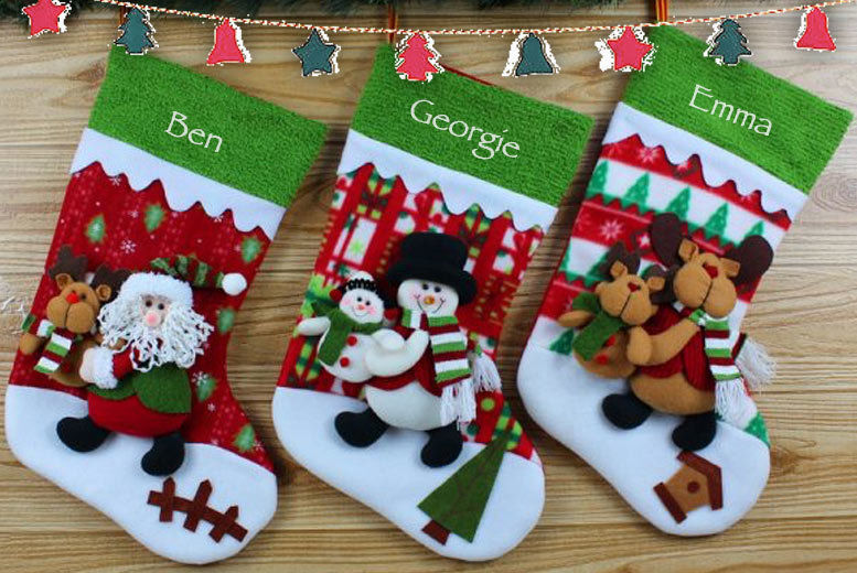 3d Personalised Xmas Stocking 3 Designs Shop Wowcher