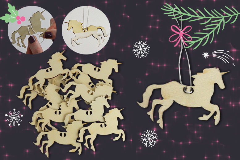 alvis fashion create your own unicorn xmas tree - Unicorn Christmas Decorations