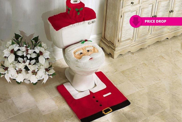 christmas toilet seat covers shop wowcher