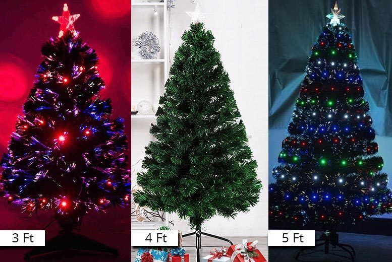 bf05e2ac114 £29 instead of £69.99 (from Aosom) for a 3ft green fibre optic LED  artificial Christmas tree