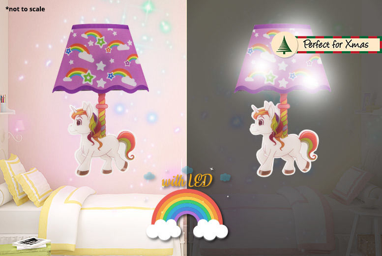 magical unicorn led night-light sticker | shop | wowcher