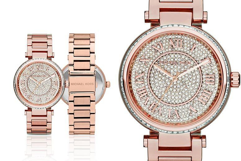 68c8e0df9f1b £149 instead of £280 (from Class Watches) for a ladies  Michael Kors MK5868  rose-tone Skylar watch - save 47%