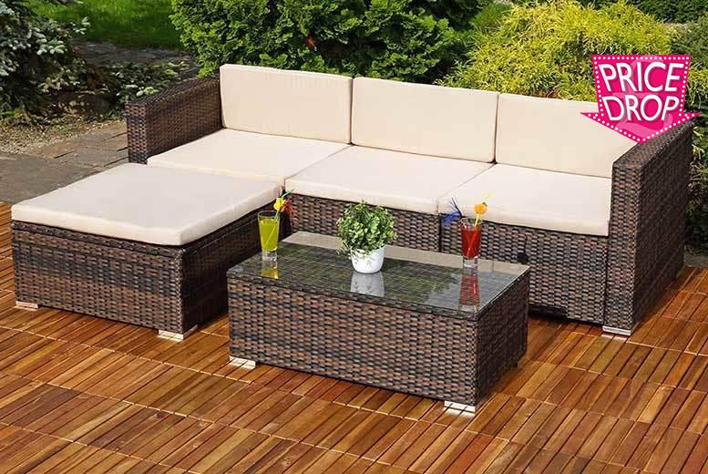 Luxury 3pc Algarve Rattan Corner Sofa Set Shop Wowcher