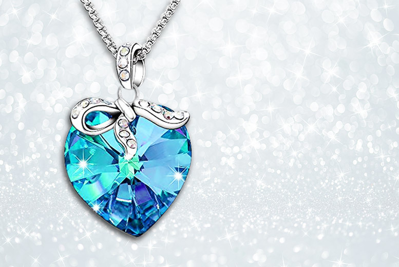 Heart pendant made with crystals from swarovski necklaces deals heart pendant made with crystals from swarovski necklaces deals in shop wowcher aloadofball Images