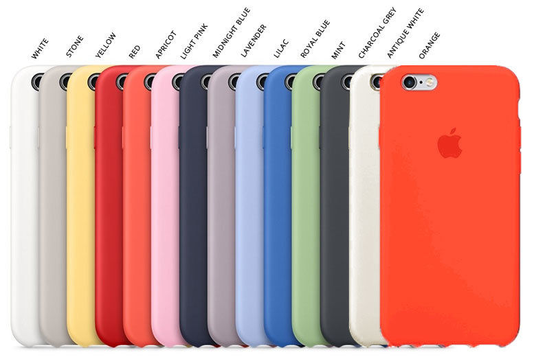 551ffd05641 Apple iPhone 6 6+ 6S 6S+ Silicone Case - 14 Colours!