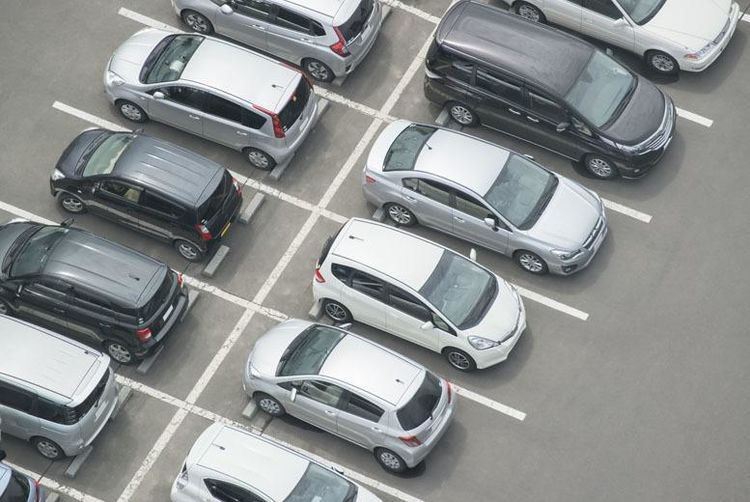 Parking at manchester airport manchester wowcher an over head view of cars parked in a lot m4hsunfo