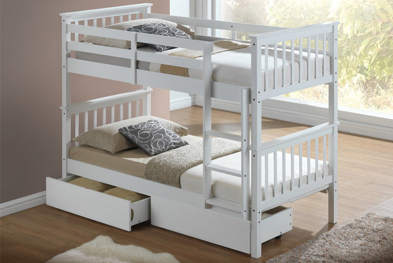 Children S White Bunk Bed Shop Wowcher