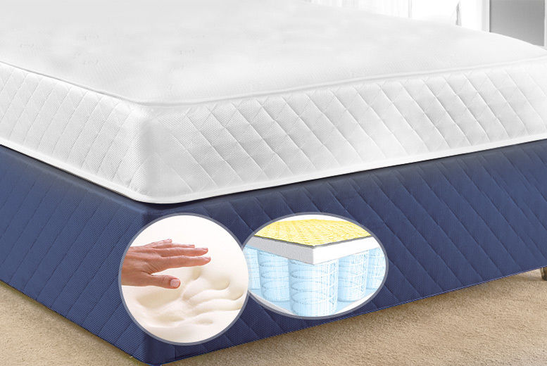 separation shoes 4b69b 1344f Luxury Cool Touch Memory Pocket Spring Mattress - 4 Sizes ...