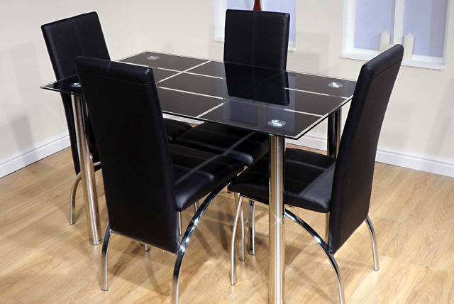 Glass Dining Table Chairs Shop Wowcher