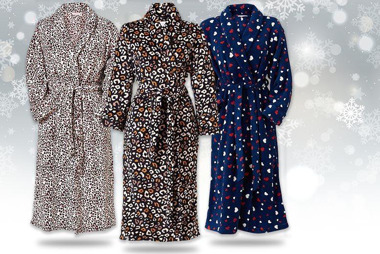 Ladies\' Polar Fleece Dressing Gown - 3 Designs! | Shop | Wowcher
