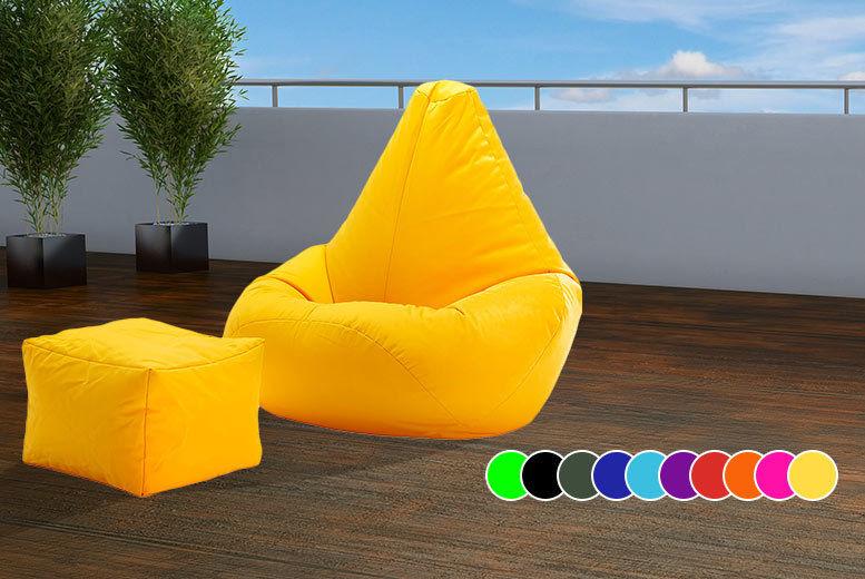 Awesome Beanbag Footstool 10 Colours London Wowcher Uwap Interior Chair Design Uwaporg