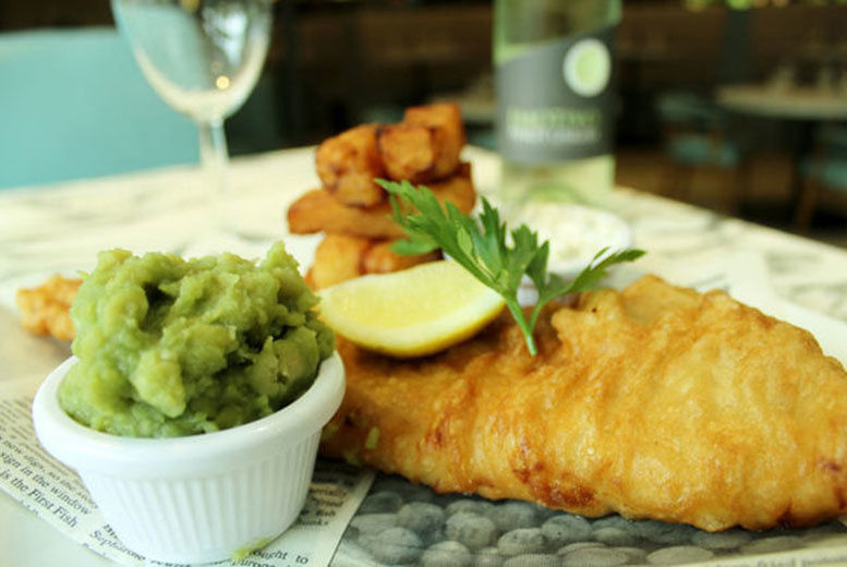 cfd338d7e66 The Mitre Hotel Manchester Fish & Chips, Bottle of Wine £18 ...
