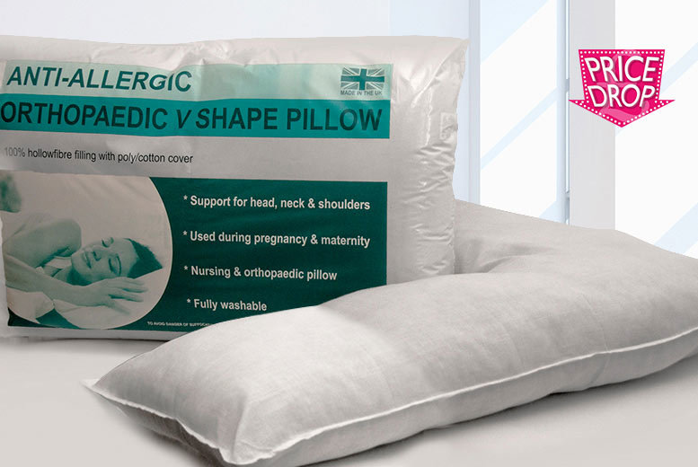 40 Or 40 Orthopaedic VShaped Pillows Shop Wowcher Amazing Covers For V Shaped Pillows