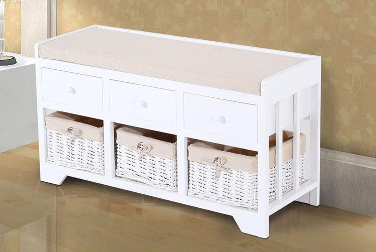 Marvelous MHSTAR   2 Drawer Basket Storage Unit Bench  ...
