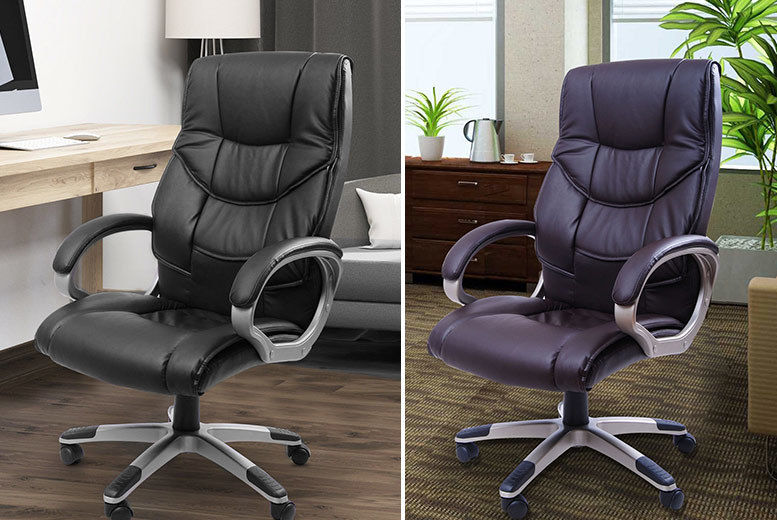 Tremendous Executive High Back Faux Leather Office Chair 2 Colours Alphanode Cool Chair Designs And Ideas Alphanodeonline