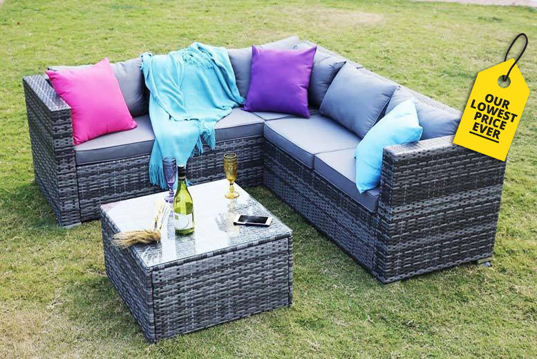 Awesome Rattan Corner Sofa Set Birmingham Wowcher Home Interior And Landscaping Ologienasavecom