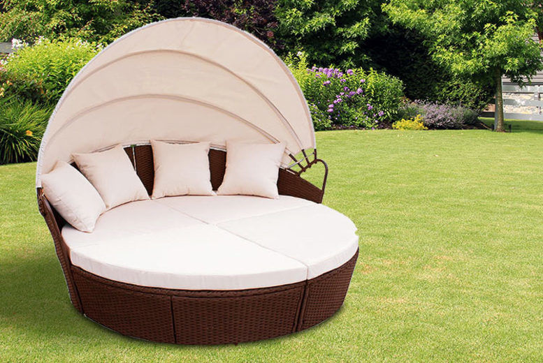 Outdoor Rattan Bali Day Bed - 3 Colours!