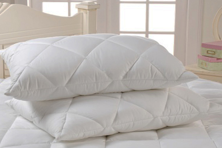 fe9af33c7 £8.99 instead of £36 (from Nights Online) for a set of two super jumbo  bounce back pillows