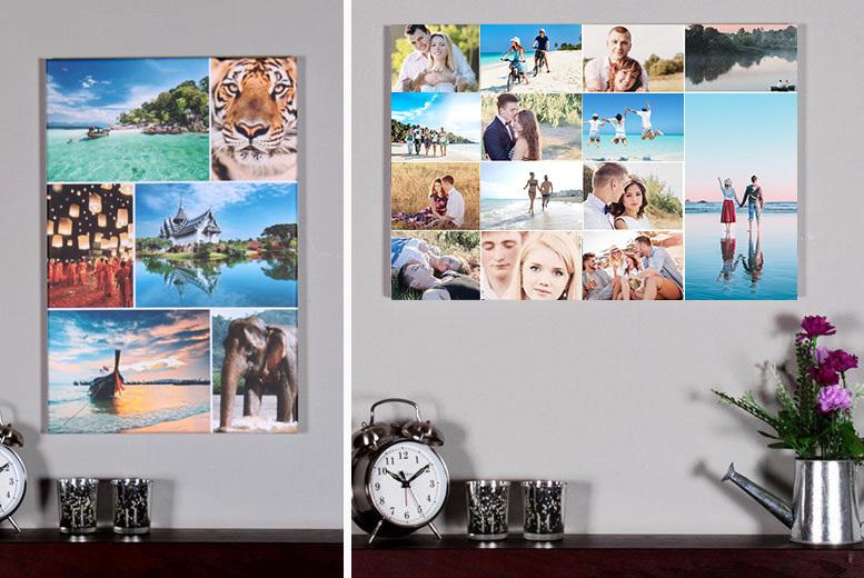 a2 or a1 photo collage canvas shop wowcher