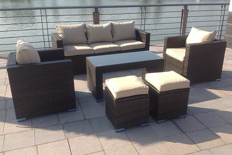 Cool 7 Seater Rattan Outdoor Furniture Set 3 Colours Shop Download Free Architecture Designs Intelgarnamadebymaigaardcom