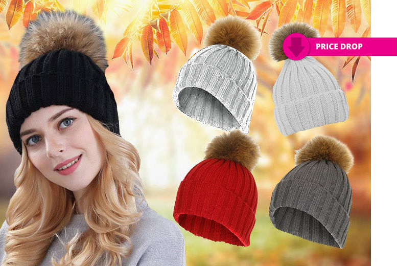 b144d1032f5 £3.99 instead of £30 for a faux fur pom-pom hat - choose from five colours  from Boni Caro - save 87%. Price-drop-hats