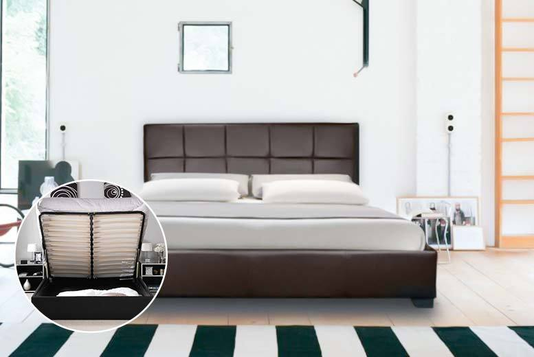 Giomani-designs---CHANEL-MODERN-DESIGNER-FAUX-LEATHER- & Faux Leather Ottoman Storage Bed - 2 Colours! | Shop | Wowcher