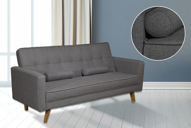 £179 Instead Of £574.01 (from Sale Beds) For A Boston Fabric Sofa Bed    Choose Charcoal Or Light Grey And Save 69%. ITIdeas BostonSofaBed2 Light  Grey ...