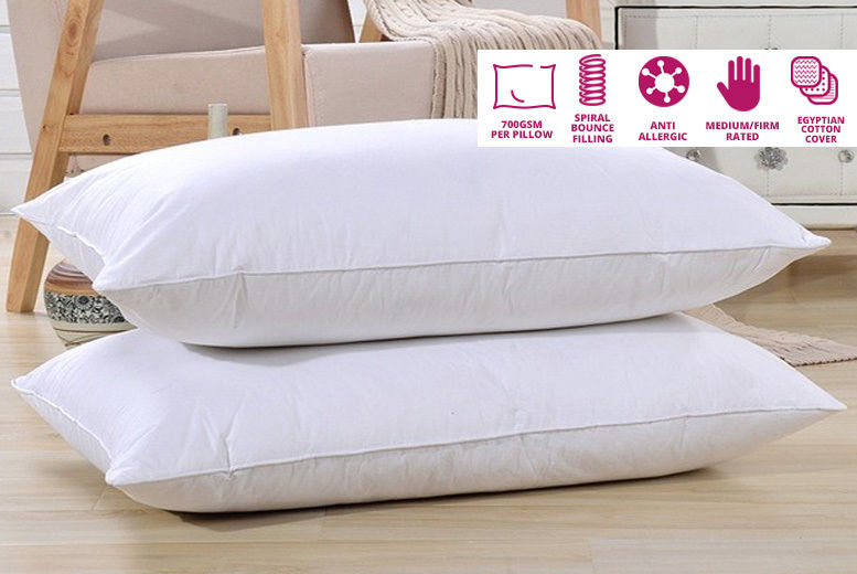 Soft Washable Luxury Egyptian Cotton Pillows Cushions Extra Filling Anti Allergy