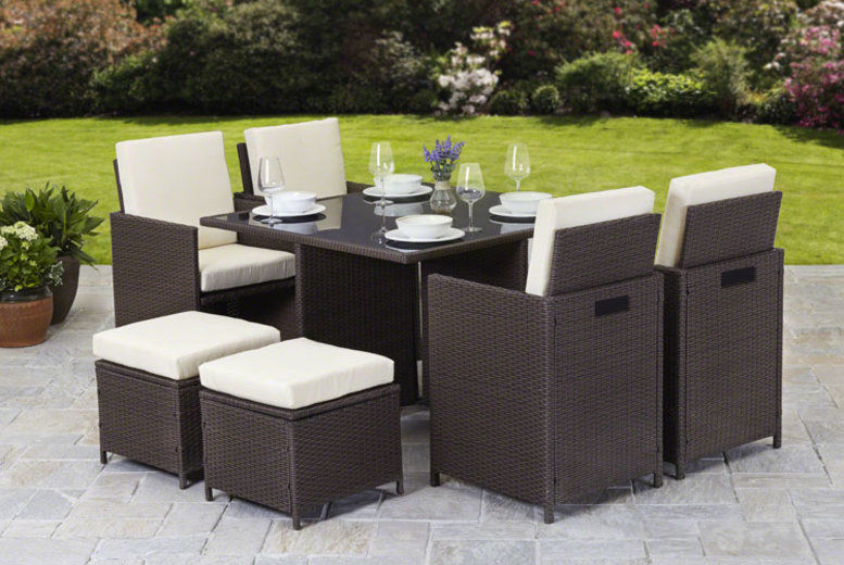 Napoli 9pc Rattan Cube Furniture Set (from £289)