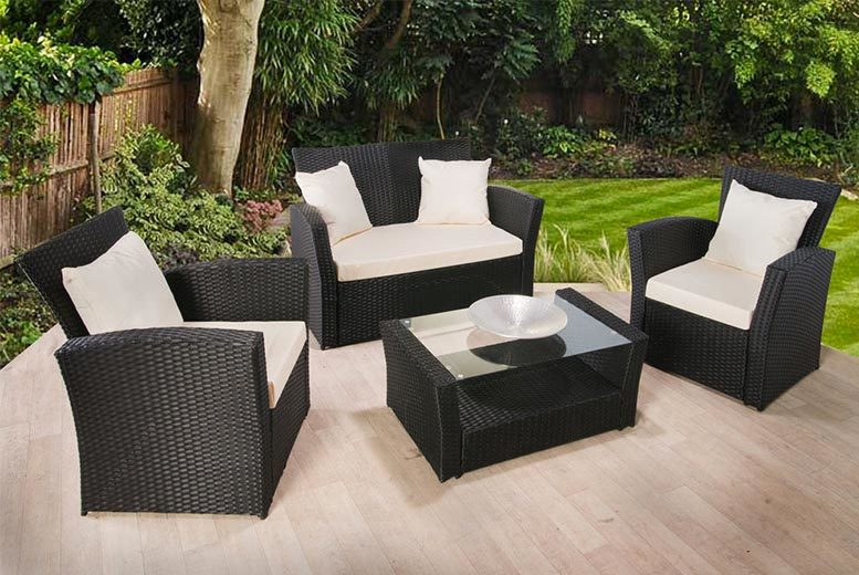 Incroyable Florence 4 Piece Rattan Garden Sofa Set