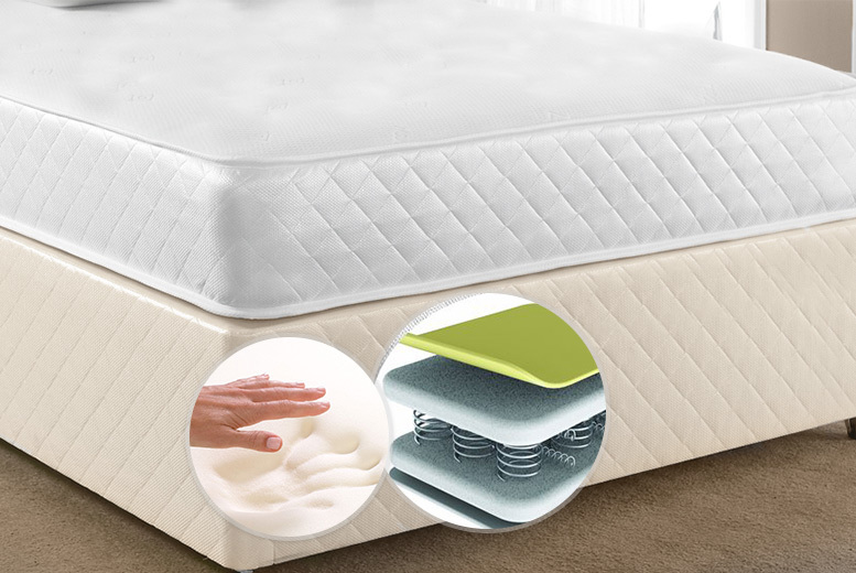 Luxury Cooltouch Memory Foam Amp Bonnel Spring Mattress
