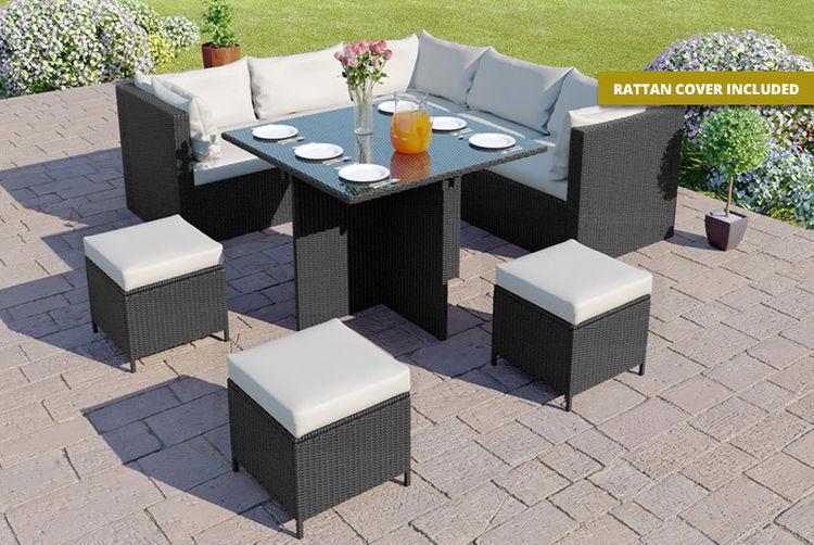 Rattan Cube Outdoor Dining Set 4 Colours Garden Furniture Deals