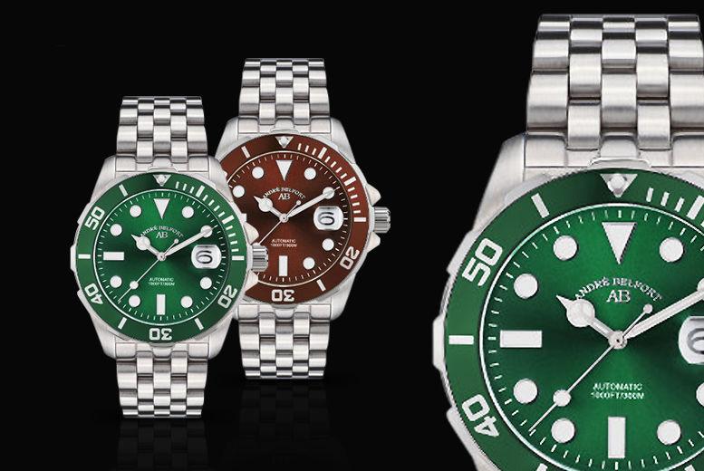 André Belfort Luxury Automatic Rolex-Style Diver's Watch - 5 Designs!