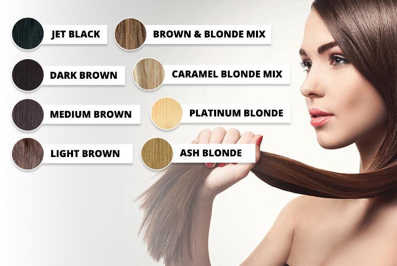 Clip In Hair Extensions 2 Lengths 8 Colours Shop Wowcher