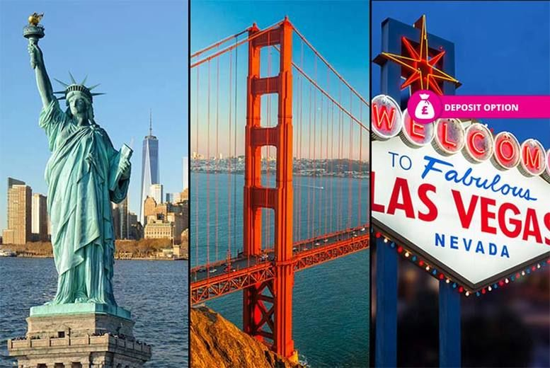online retailer 720d8 6a687 8nt New York, San Francisco   Las Vegas Holiday with Flights